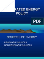 Integrated Energy Policy