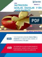 Nutrición en el preescolar, escolar y adolescente
