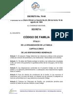Codigo de Familia (Actualizado 2016)