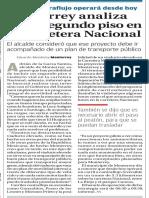 30-05-16 Monterrey analiza tener segundo piso en la carretera Nacional