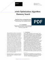 A New Heuristic Optimization Algorithm- Harmony Search