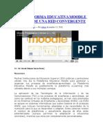 - Pagina 1 Web La Plataforma Educativa Moodle a Través de Una Red Convergente