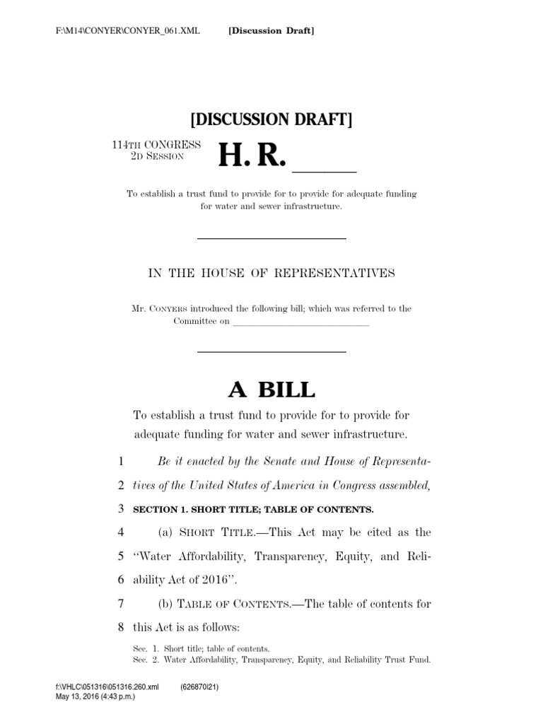 Proposed national water infrastructure bill clean water act proposed national water infrastructure bill clean water act united states code publicscrutiny Image collections