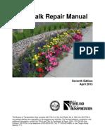 Sidewalk Repair Manual w BOM DAN Edits 031413c