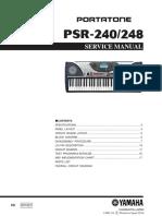 Yamaha Psr-240 Service Manual