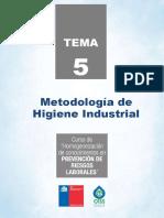 Tema5 Metodologia de Higieneindustrial