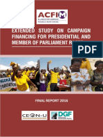 ACFIM extended study on campaign financing for the Uganda 2016 presidential and parliamentary races