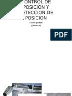 Control de Posicion y Deteccion de Posicion