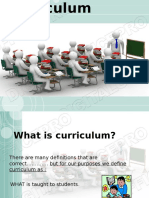 CR 3 Curriculum History and Elements of Curriculum