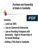 Cambodia Land Law for Foreigner