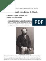 Michel Foucault. La peinture de Manet. Conférence à Tunis, le 20 Mai 1971. Résumé avec illustrations.
