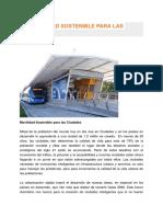 Movilidad Sostenible Para Las Ciudades