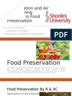 Food Preservation by Refrigeration and Air Conditioning
