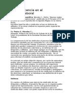 Comparecencia en El Proceso. Laboral peruano