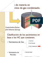Balance de Materias Yacimientos Gas Condensado