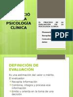 Proceso de La Evaluación en La Psicología Clínica Exposicion Resumida