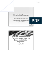 Role of Freight Forwarders Combined Update 2012