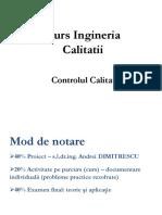Curs Ingineria Calitatii