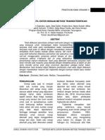 Sintesis Metil Ester Dengan Metode Transesterifikasi