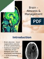 Brain – Abscess & Management