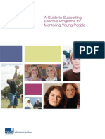 A Guide to Supporting Effective Programs for Mentoring Young People Jul07 DPCDw