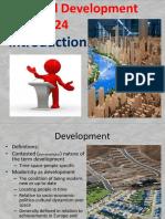 Topic 1 REGIONAL DEVELOPMENT
