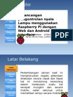 perancangan pengotrolan lampu melalui raspberry pi