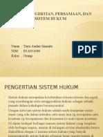 Resume Pengertian, Persamaan, Dan Perbedaan Sistem Hukum
