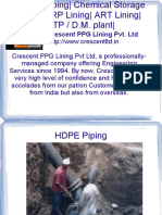 Crescent PPG Lining offers chemical storage Tank FRP  lining
