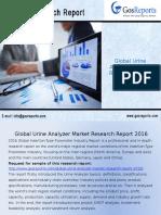 Global Urine Analyzer Market Research Report 2016