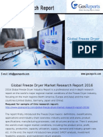 Global Freeze Dryer Market Research Report 2016