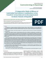 A Randomized Comparative Study of Efficacy of Lamivudine and Adefovir Combination versus Tenofovir versus Entecavir in Decompensated Cirrhotic Patients of Hepatitis B
