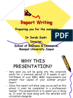 Summer Project Report Writing [2016]
