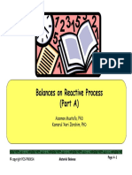Chapter 5 Balances on Reactive Process