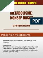 Kuliah-7 Metabolisme - Konsep Dasar