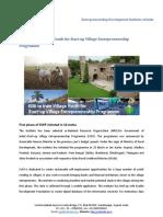 EDII to Train Village Youth for Start-up Village Entrepreneurship Programme