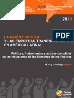La Unión Europea y las empresas transnacionales en America Latina