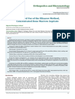 Combined Use of the Illizarov Method, Concentrated Bone Marrow Aspirate