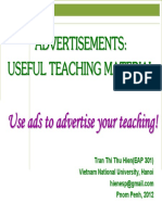 Ads as Useful Teaching Material