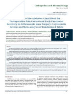 Evaluation of the Adductor Canal Block for Postoperative Pain Control and Early Functional Recovery in Arthroscopic Knee Surgery