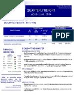 Quarterly Report April June - Dewan P.N. Chopra & Co.