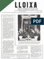 LLOIXA. Número 03, septiembre/setembre 1981. Butlletí informatiu de Sant Joan. Boletín informativo de Sant Joan.  Autor