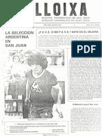 LLOIXA. Número 02, agosto/agost 1981.  Butlletí Informatiu de Sant Joan. Boletín informativo de Sant Joan.  Autor