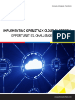 Implementing Openstack Cloud Platform