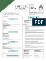 Boletín Oficial de la República Argentina, Número 33.389. 31 de mayo de 2016