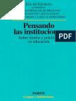 Butelman Pensando Las Instituciones Texto Completo