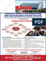 M.tech admission 2016 - M tech in Computer Science and Engineering with Specialization in Cyber Security - The Northcap University Gurgaon
