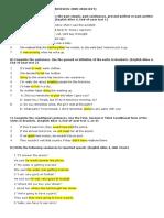 Final Exam Revision 0910 4th Eso Sant Gregori Key Def
