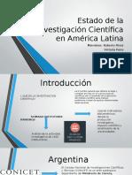 Estado de La Investigación Científica en América Latina