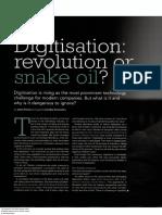 Digitisation Revolution or Snake Oil